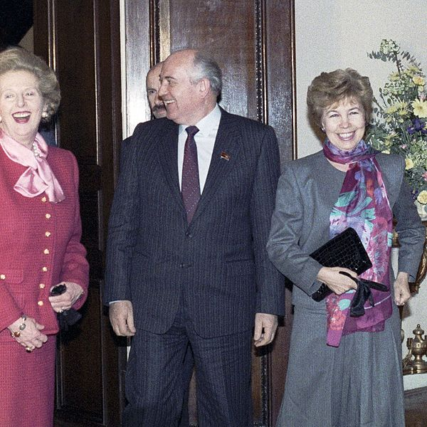 Cu prietenul Gorbaciov şi soţia lui, Raisa