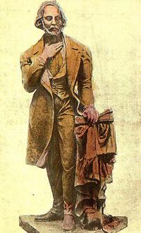 Nicolae Balcescu in salut masonic